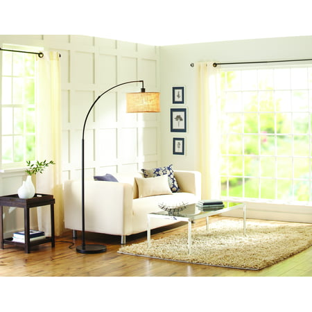 Better homes and gardens burlap arc floor lamp for Better homes and gardens floor plan software