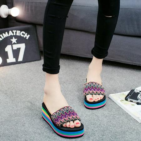 62e2d4b4e DZT1968 - DZT1968 Women Flower Summer Sandals Slipper Indoor Outdoor ...