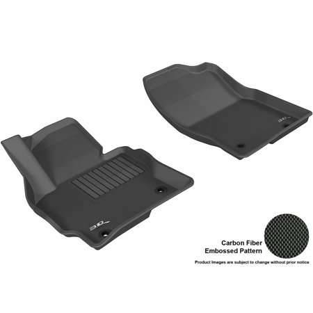 3D MAXpider 2013-2016 Mazda CX-5 Front Row All Weather Floor Liners in Black with Carbon Fiber Look