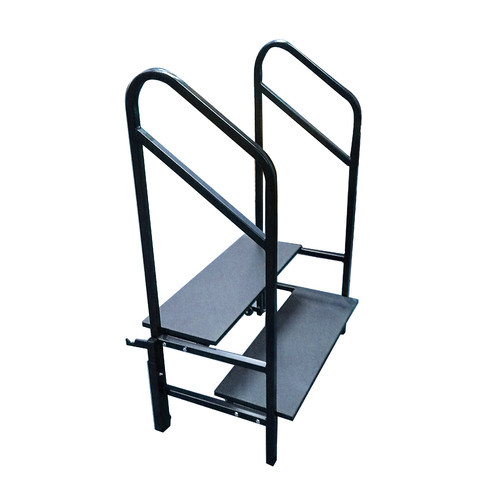 AmTab Manufacturing Corporation 2-Step Steel Furnished Step Stool with 300 lb. Load Capacity