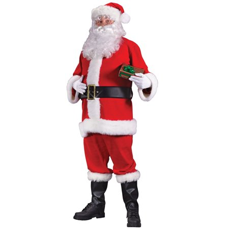 6-Piece Adult Men's Regency Red and White Santa Claus Costume Suit - Plus Size](Plus Size Santa Suit)