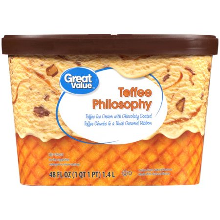 Great Value Toffee Philosophy Ice Cream, 48 oz