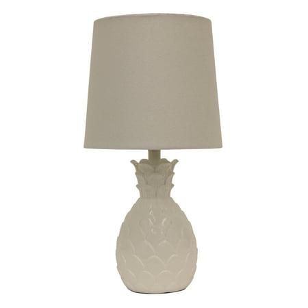 "13.5"" Pineapple Desk Lamp White - Decor Therapy"