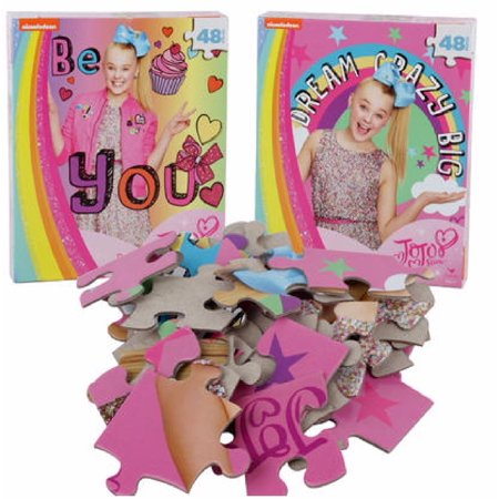 Jojo Siwa Dream Crazy Big 48pc Puzzle features Jojo with a rainbow](Halloween Party Logic Puzzle)