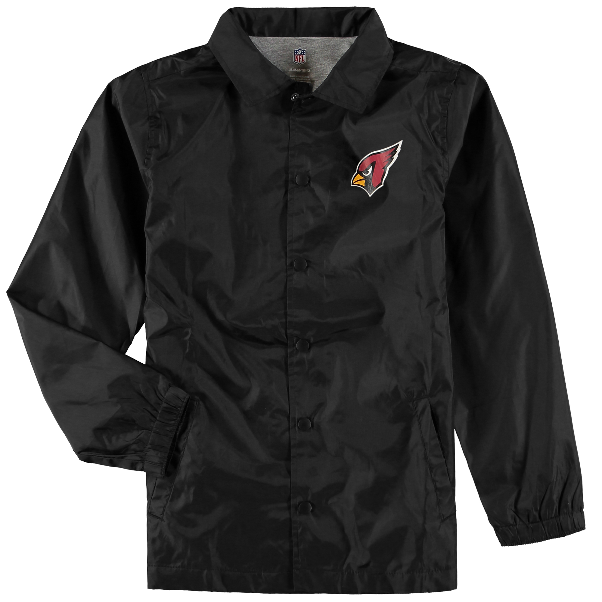 Arizona Cardinals Youth Bravo Coach Jacket - Black