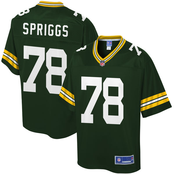 Men's Green Bay Packers Jason Spriggs NFL Pro Line Green Player Jersey
