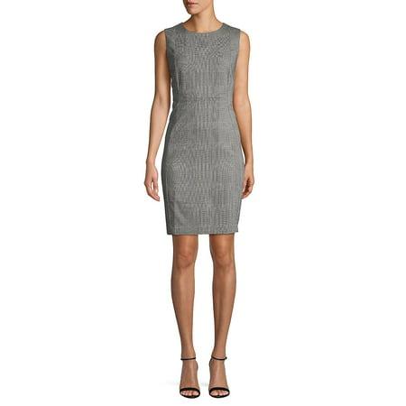 Petite Plaid Sheath Dress