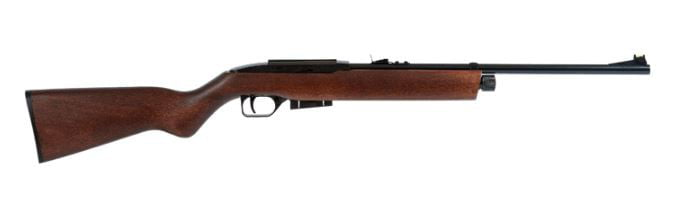 Click here to buy Crosman RepeatAir E-1077W Semi-Auto CO2 Air Rifle, Wood Stock by Crosman.