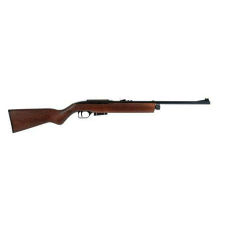 Crosman RepeatAir E-1077W Semi-Auto CO2 Air Rifle, Wood Stock, .177