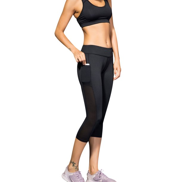 Luxur Breathable S Xxl Workout High Waist Long Yoga Pants For Ladies Women Leggings Fitness Sports Pants Capris Stretch Trousers Push Up Active Wear Gym Exercise Running Jogging Riding Walmart Com
