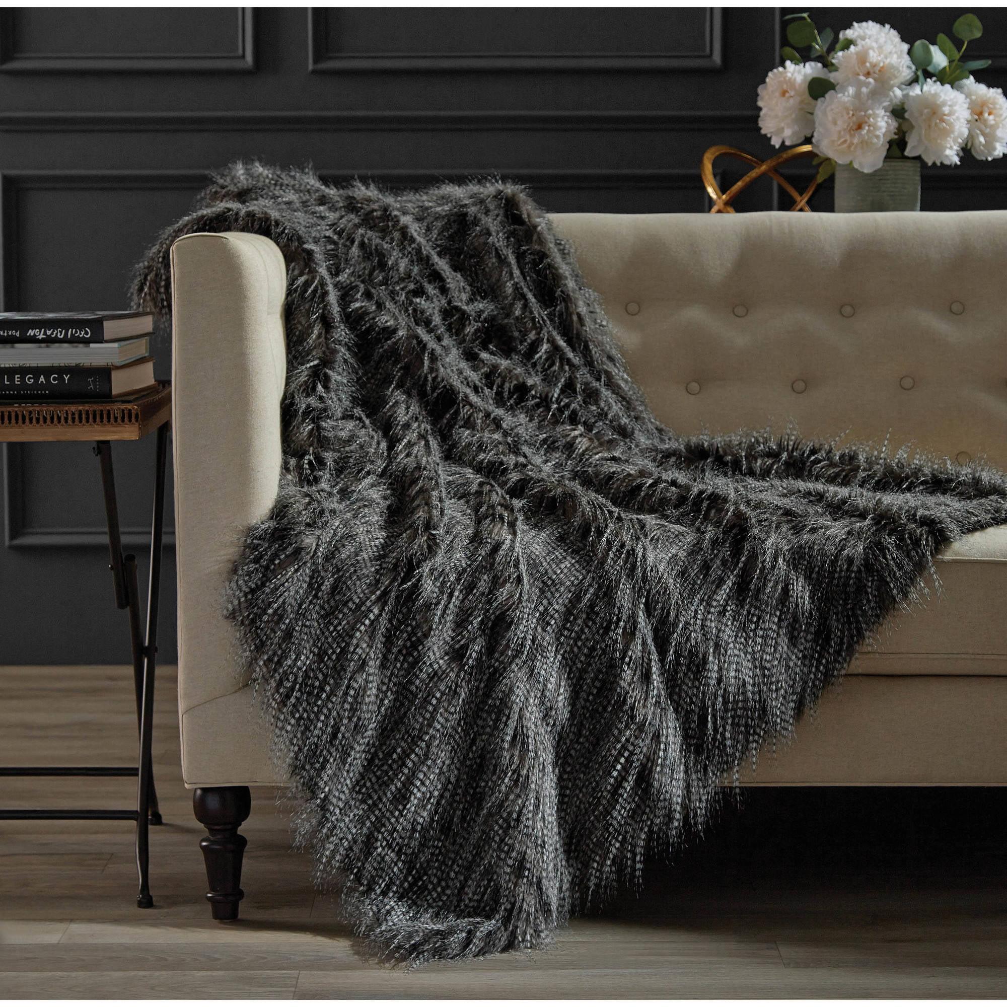 Hotel Soft Faux Fur Throw by