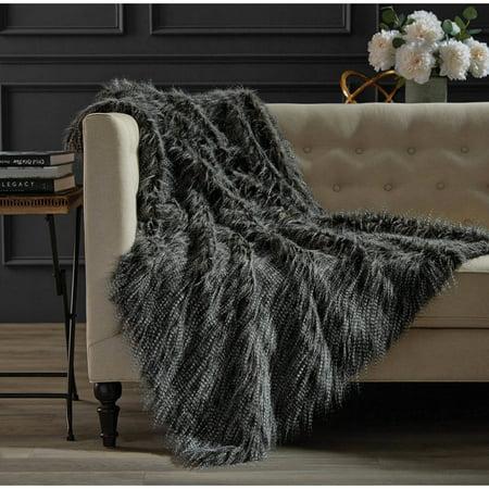Hotel Faux Fur Throw - Walmart.com : faux fur quilt - Adamdwight.com