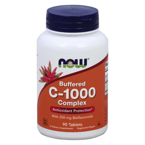 Now Foods Vitamin C 1000 Buffered Complex 90 Tablets Walmart Com Walmart Com