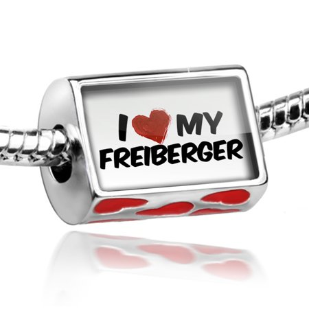 Bead I Love My Freiberger  Horse Charm Fits All European Bracelets