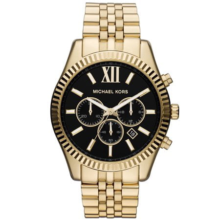 MK8286 Men's Gold Tone Black Stainless Steel Chronograph Date Watch