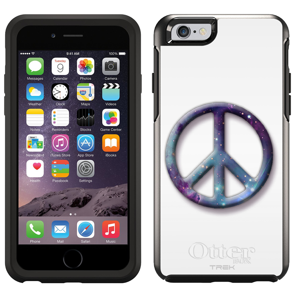 SKIN DECAL FOR OtterBox Symmetry Apple iPhone 6 Case - Nebula Peace on White DECAL, NOT A CASE