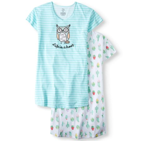 Secret Treasures Sleepshirt 2 Pack Owl/Cactus