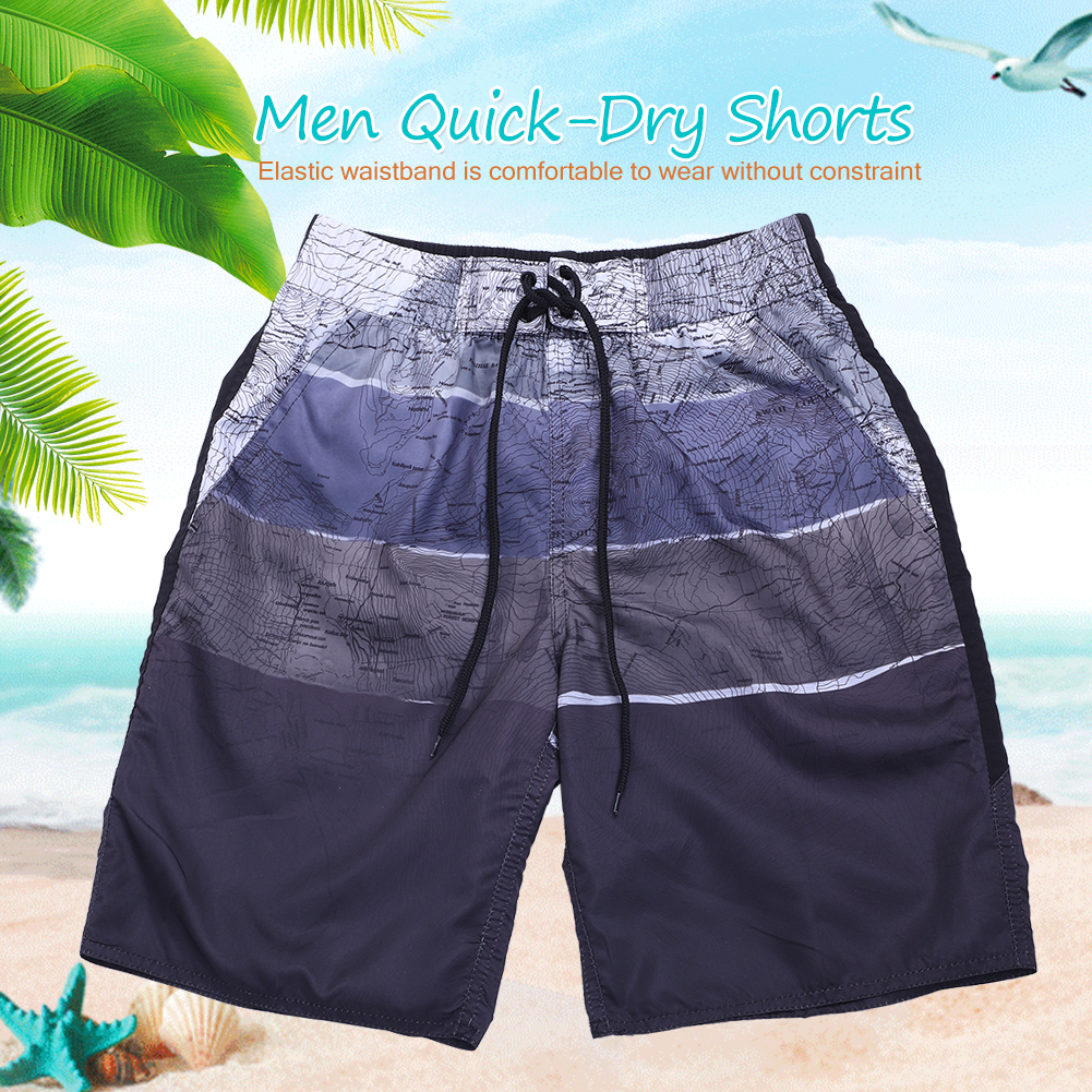 Men Beach Swim Swimming Surf Board Quick-Dry Shorts Casual Polyester Fiber Pants, Men Beach Shorts, Men Board Shorts