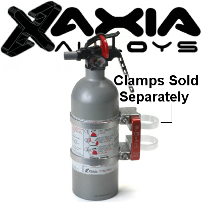 Axia Alloys Silver Anodized Quick Release Mount With 2lb Class B:C Kidde Fire Extinguisher