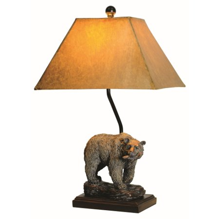 Lodge Bear Table Lamp, Grecian Bronze ()