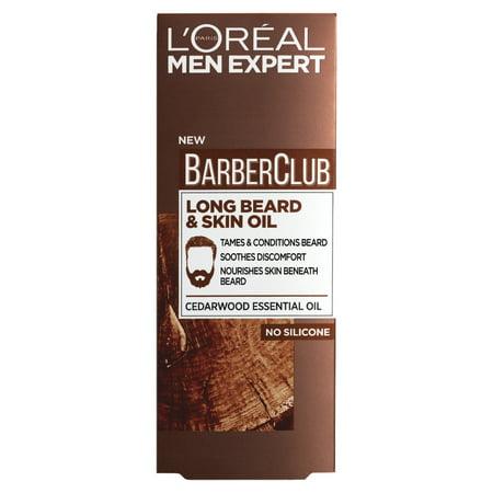 L'Oreal Men Expert Barber Club Long Beard and Skin Oil (30 (Beard For Long Face)