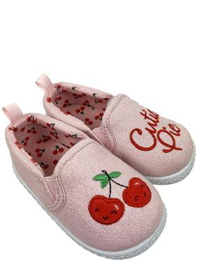 Infant Girls' Wonder Nation Cherry Canvas Shoes