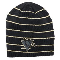 best service 5d6d3 80299 Product Image Pittsburgh Penguins Reebok Cross Check Cuffless Knit Beanie -  Black - OSFA