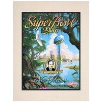 "1997 Packers vs Patriots 10.5"" x 14"" Matted Super Bowl XXXI Program"