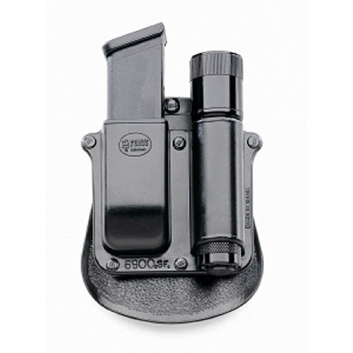 """Fobus Flashlight-Magazine Pouch fits Any 1"""" Diameter Flashlight and Universal Double Stack 9mm and 40 Cal. by Fobus"""