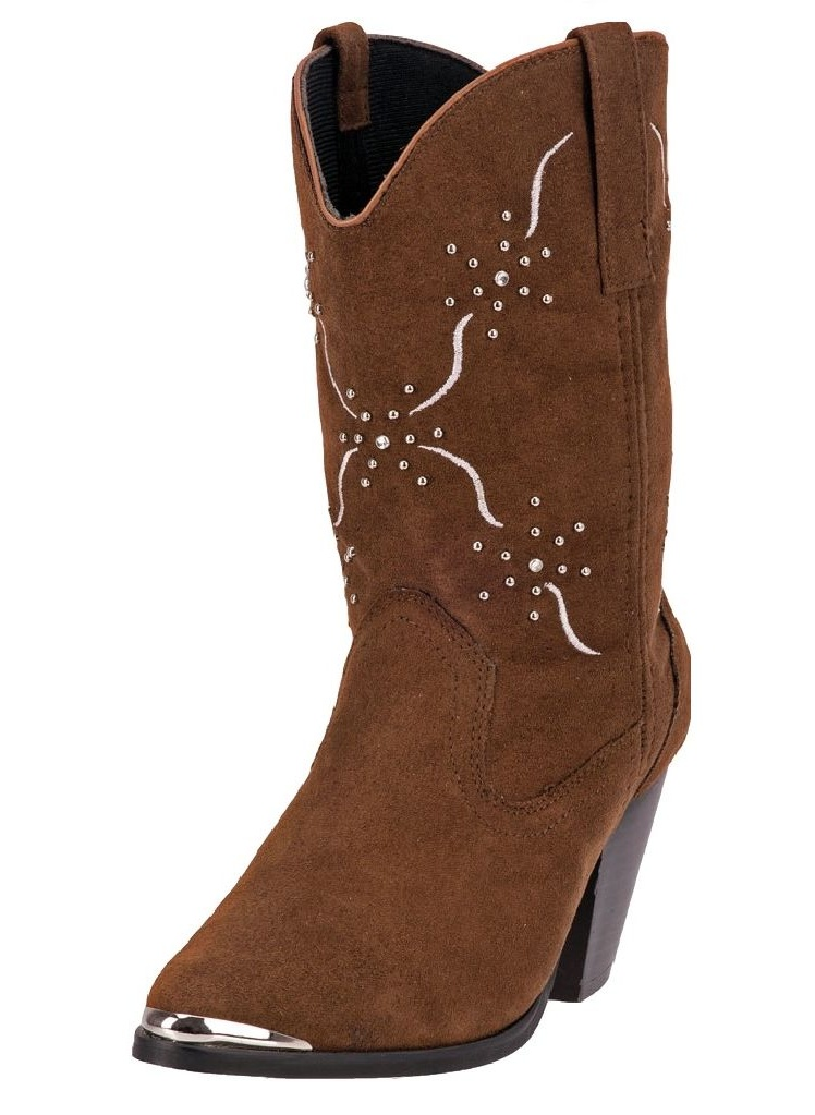 """Dingo Western Boots Women 10"""" Studs Embroidered Chocolate DI 563 by Dingo"""