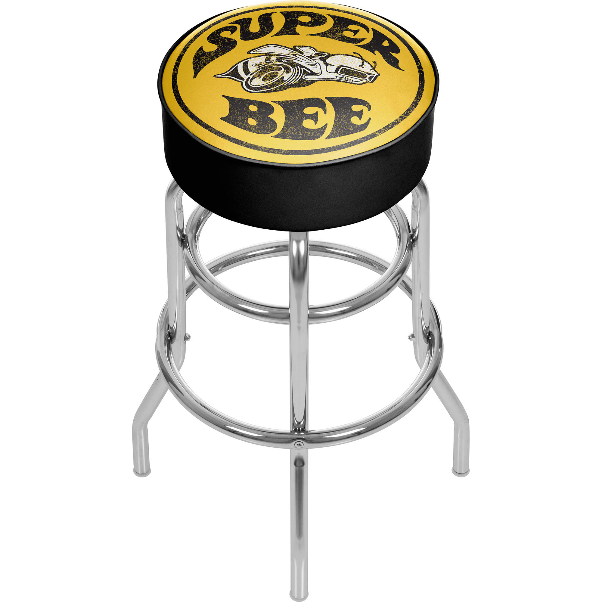 Dodge Padded Swivel Bar Stool, Super Bee