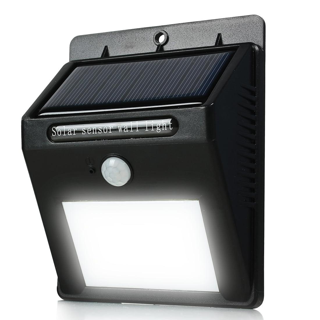 Solar Light PIR CDS Motion Sensor Lamp 12 LEDs 80 Lumens Waterproof