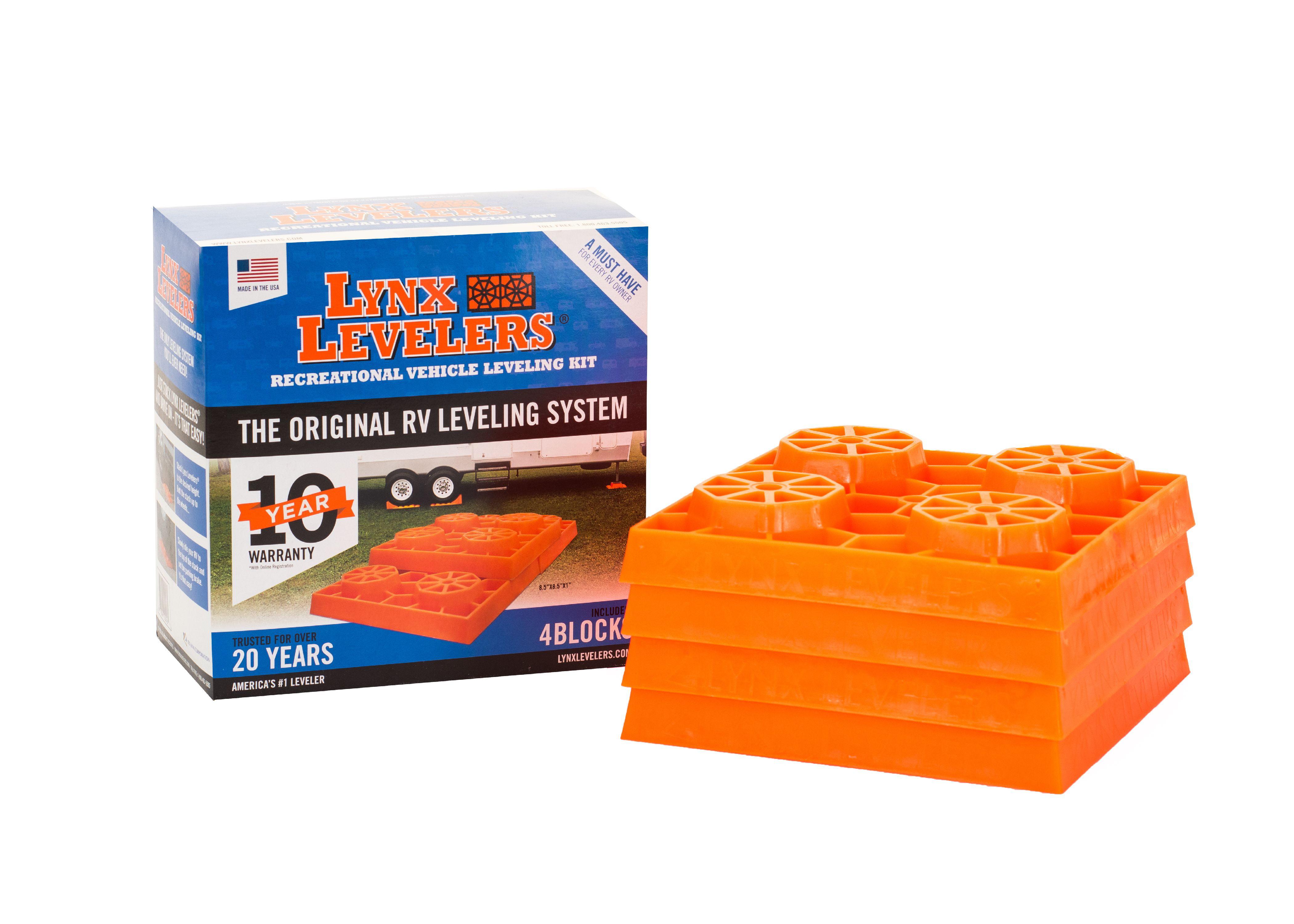Lynx Levelers 4 Pack Rv Leveling Blocks Walmart Com