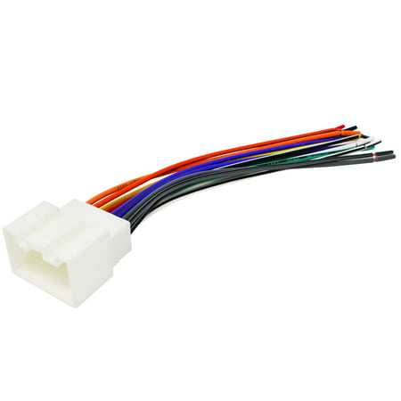 Replacement Radio Wiring Harness for 2004 Ford F-150 Heritage, 2004 Ford F-250 Super Duty, 2004 Ford F-350 Super Duty, 2004 Ford F-450 Super Duty, 2004 Ford F-550 Super Duty, 2003 Ford F-150