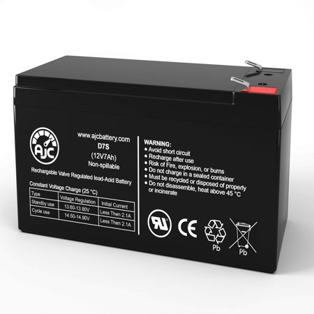 ELK M1 12V 7Ah Alarm Battery - This is an AJC Brand Replacement