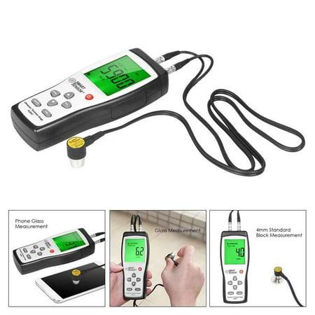 (Digital Ultrasonic Thickness Gauge 1.2-225mm 1000-9999m/s Sound Velocity Meter Metal Depth Tester SMART SENSOR AS840)