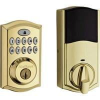 Kwikset 913 SmartCode Electronic UL Deadbolt featuring SmartKey Security? in Lifetime Polished Brass