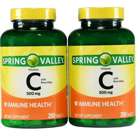La vitamine C avec des hanches Rose 500 mg 250 Ct Ct 2