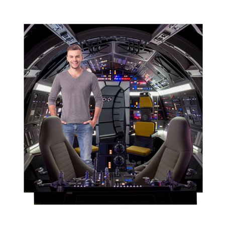 Star Wars Millennium Falcon Cockpit/Backdrop Cardboard Stand-Up - Star Wars Cardboard
