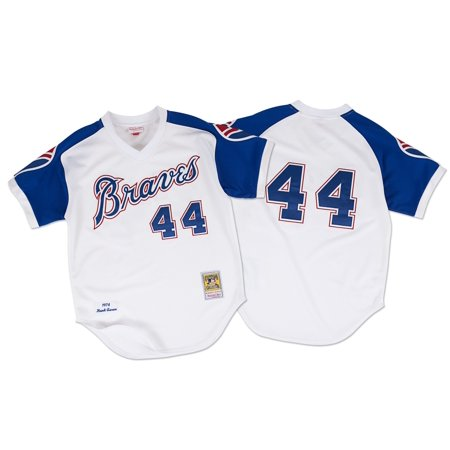 Hank Aaron Atlanta Braves Mitchell & Ness Authentic MLB 1974 Pullover Jersey by