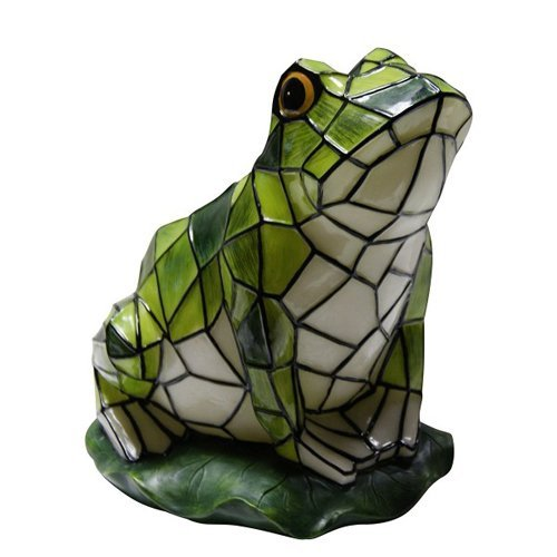 Solar Mosaic Frog Garden Statue