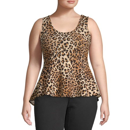Urban Rose Juniors' Plus Size Crepe Peplum Top (Plus Size Junior Shirts)