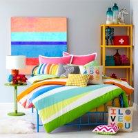 9 by Novogratz Rainbow Wrap Mini Comforter Bedding Set