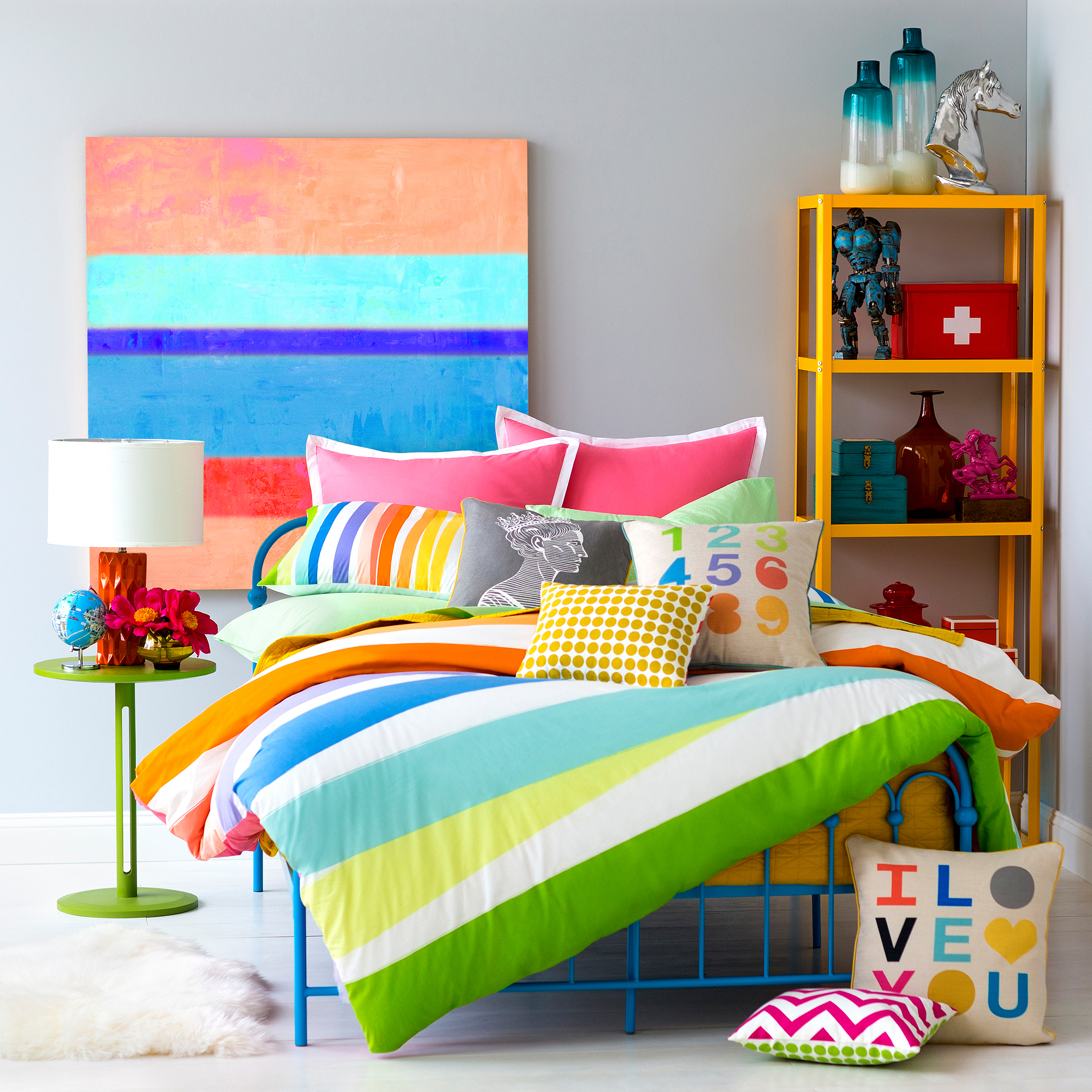 9 by Novogratz Rainbow Wrap Mini Comforter Bedding Set