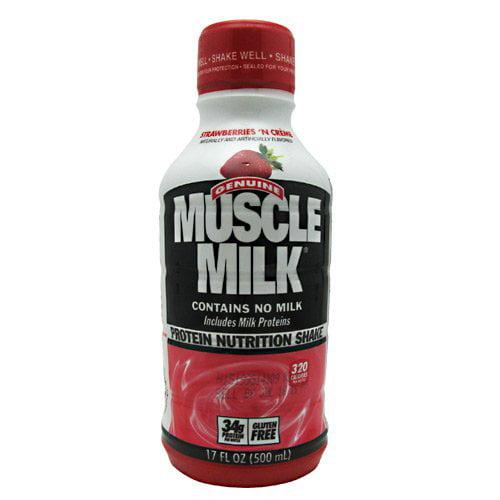 CytoSport Muscle Milk RTD Nutritional Shake Strawb - 12/17oz