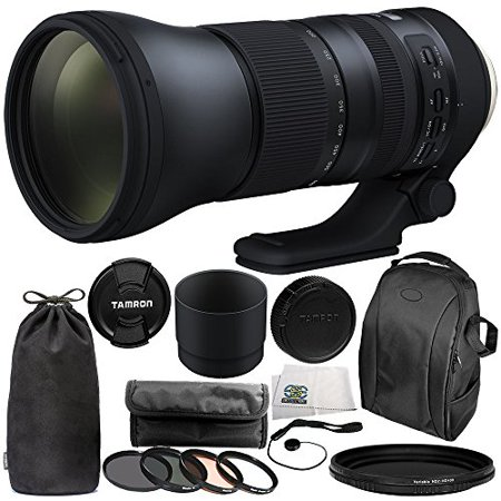 Tamron SP 150-600mm f/5-6.3 Di VC USD G2 for Canon EF 11PC Accessory Bundle - Includes 4PC Warming Filter Kit + Variable Neutral Density Filter (ND2-ND400) + Backpack +
