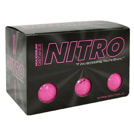 Nitro Maximum Distance 12 ball pack pink (Golf Balls Pink)