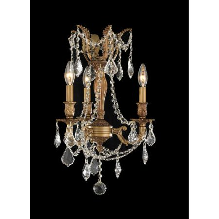 Worldwide Lighting W83302fg13 Cl Windsor 3 Light Candle Style Crystal Chandelier