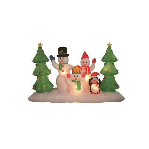 BZB Goods Christmas Inflatable Snowmen Family Decoration