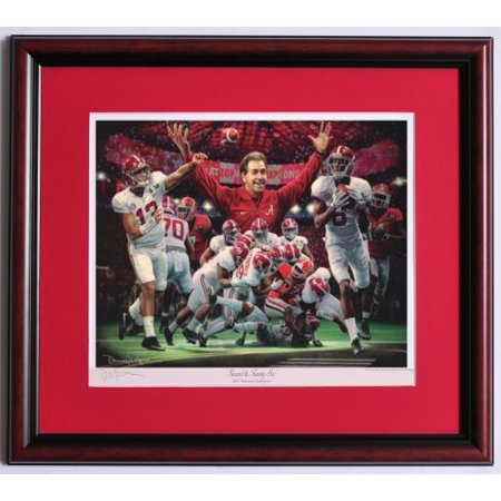 2nd and 26 Framed Print by Daniel Moore - Alabama Defeats Georgia to Win The 2017 National (Georgia Framed)